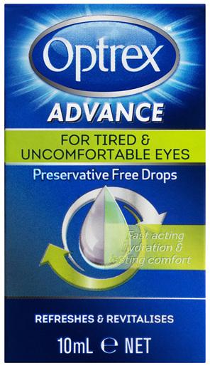 Optrex Advance Preservative Free Tired Eye Drops 10mL