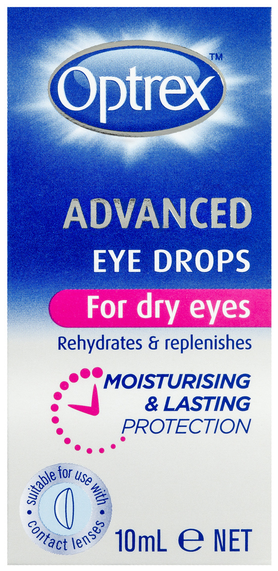 Optrex Advanced Eye Drops for Dry Eyes 10ml