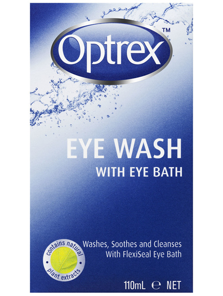 Optrex Fresh Eyes Liquid Eye Wash Bath 110ml
