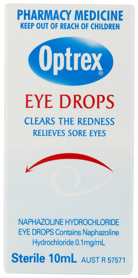 Optrex Medicated Eye Drops for Sore Red Eyes 10ml