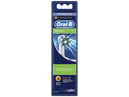 Oral-B CrossAction Replacement Brush Heads 4 Pack