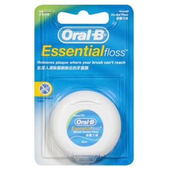ORAL B Essential Waxed Floss Mint 50m