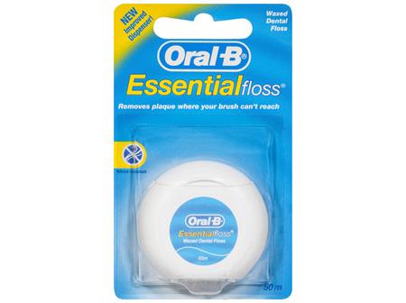 Oral-B EssentialFloss Waxed Dental Floss 50m