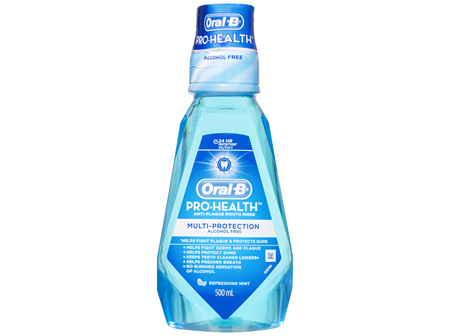 Oral-B Pro-Health Multi-Protection Anti-Plaque Mouthwash Refreshing Mint 500ml
