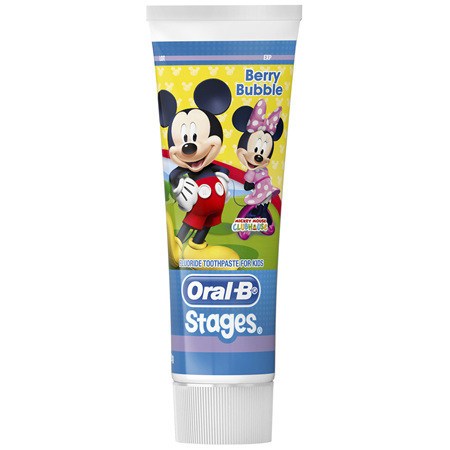 Oral-B Stages Mickey Mouse Berry Bubble Fluoride Toothpaste For Kids 92g