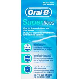 ORAL B Superfloss PreCut Stands50pk