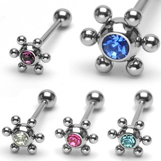 Orbital Jeweled Tongue Bar