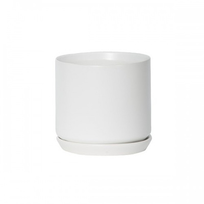 Oslo Planter Ice White - Medium