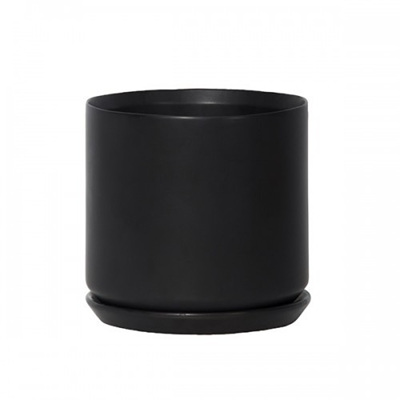 Oslo Planter Jet Black - Large