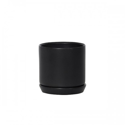 Oslo Planter Jet Black - Small