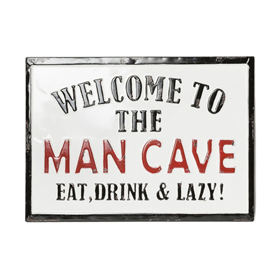 Oslo Welcome To The Man Cave Plaque / Sign