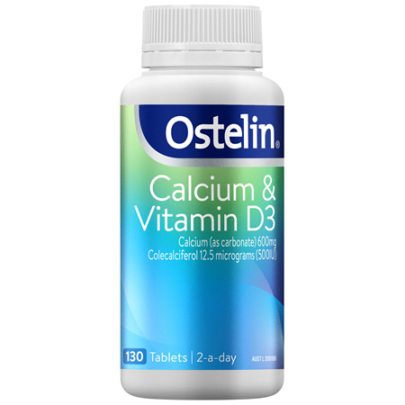 Ostelin Calcium & Vitamin D3 Tablets 130 Pack
