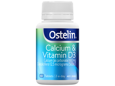 Ostelin Calcium & Vitamin D3 Tablets 60 Pack