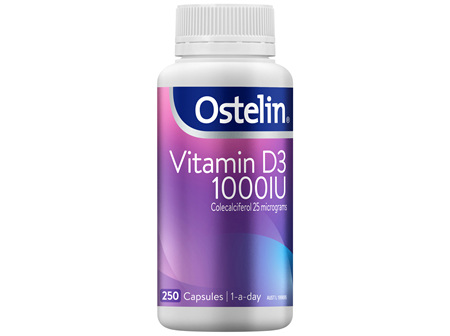 Ostelin Vitamin D 1000IU Capsules 250 Pack
