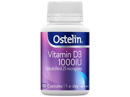 Ostelin Vitamin D3 1000IU Capsules 130 Pack