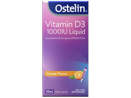 Ostelin Vitamin D3 1000IU Liquid 50mL