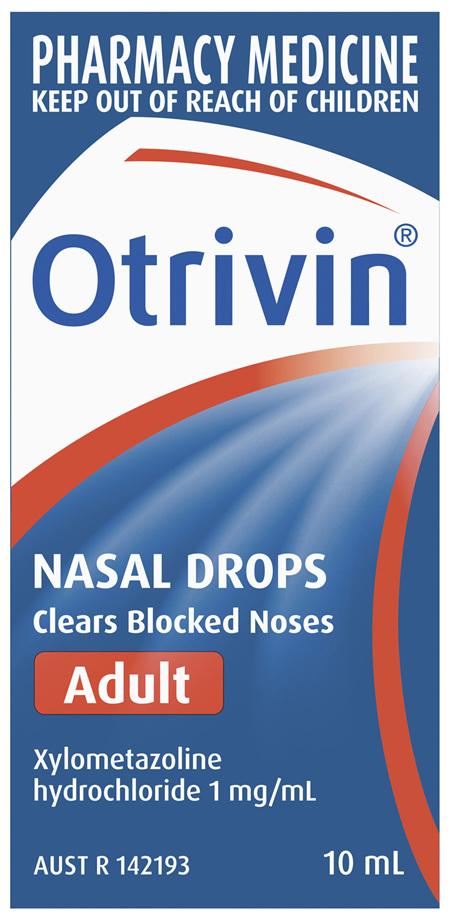 Otrivin Adult Nasal Drops 10mL