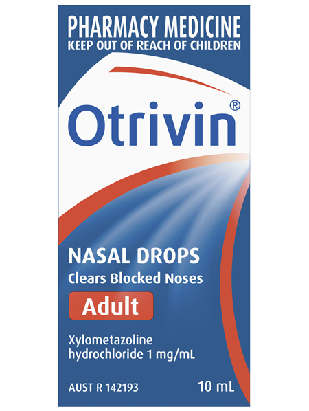 Otrivin Adult Nasal Drops, for Blocked Nose, 10mL