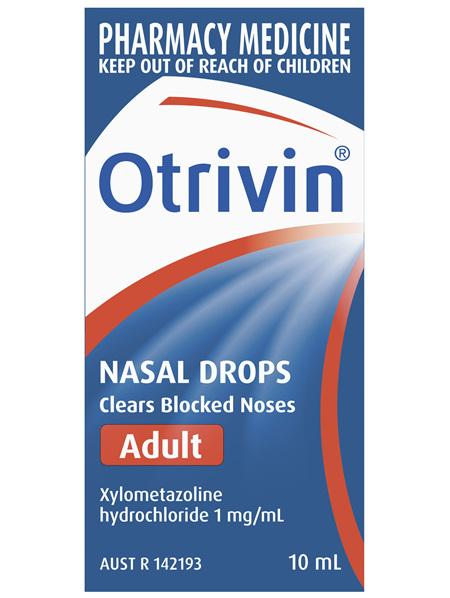 Otrivin Adult Nasal Drops, for Blocked Nose, 10mL