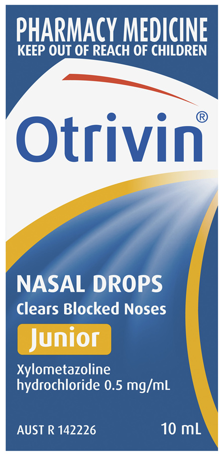 Otrivin Junior Nasal Drops, for Blocked Nose, 10mL