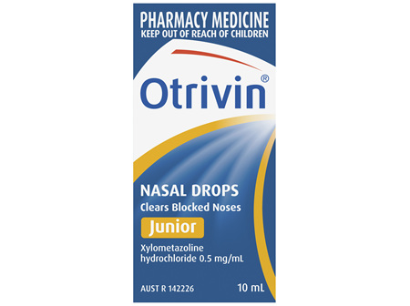 Otrivin Junior Nasal Drops, for Blocked Nose, 10mL
