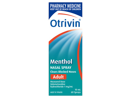 Otrivin Menthol Nasal Spray 10ml