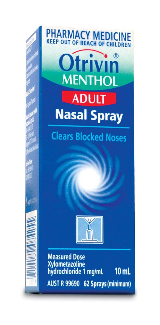 Otrivin Menthol Nasal Spray Adult