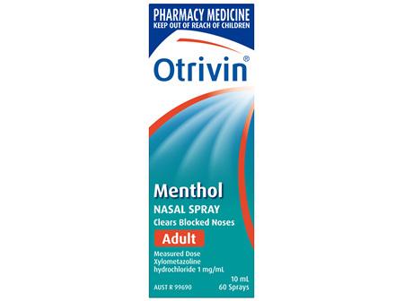 Otrivin Nasal Spray Menthol Adult 10mL
