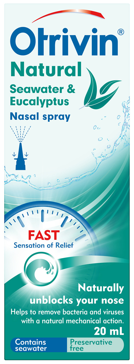 Otrivin Natural Nasal Spray Seawater & Eucalyptus 20 mL