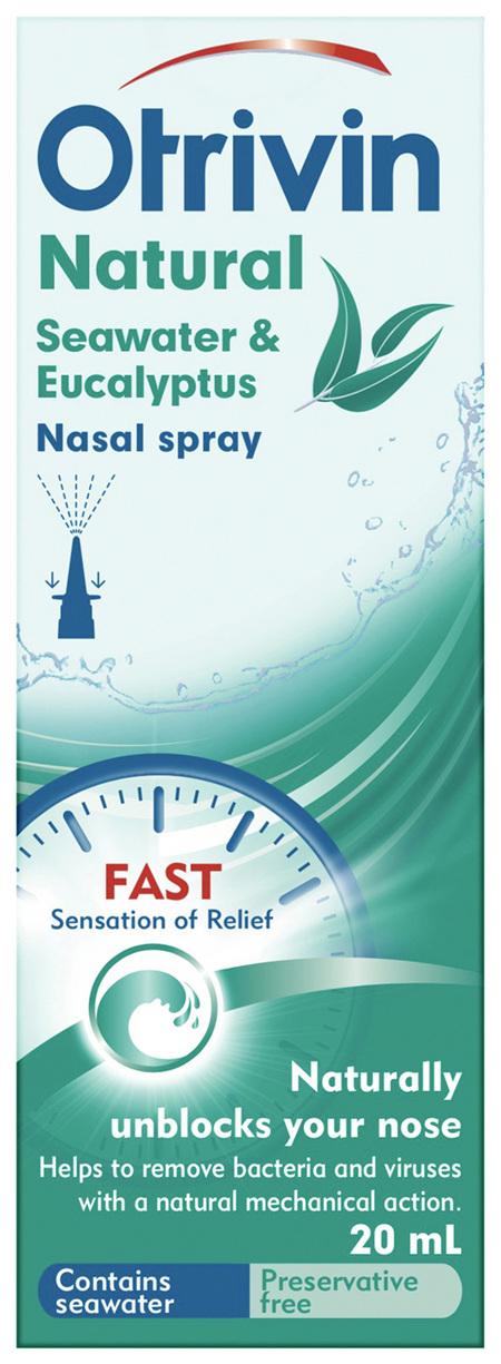 Otrivin Natural Nasal Spray Seawater & Eucalyptus 20 mL