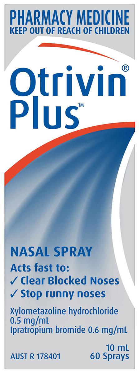 Otrivin Plus Nasal Spray, Blocked and Runny Nose, 10mL
