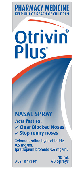Otrivin Plus Nasal Spray, Blocked and Runny Nose, 10mL