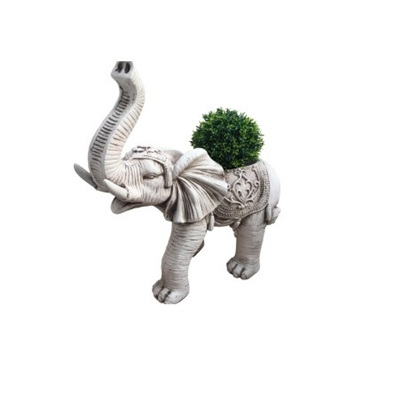 Outdoor Stone Look Elephant w/ Hollow Back