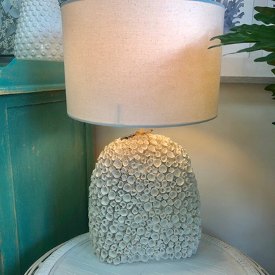 Oval Coral Resin Lamp