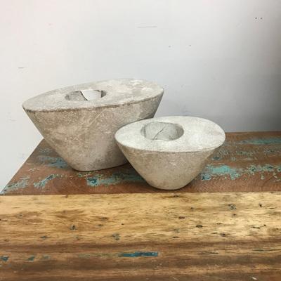 Oval Tealight - Concrete