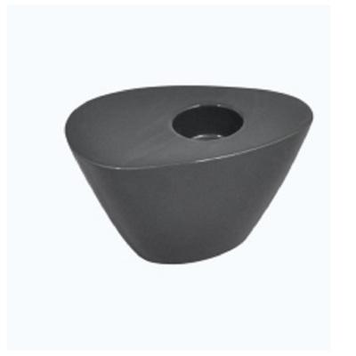 Oval Wedge Tealight Holder Midnight Black