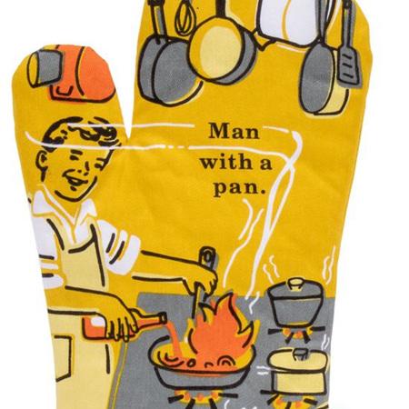 Oven Mitt - Man With A Pan