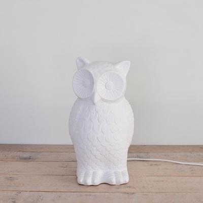 Owl Porcelain Table Lamp