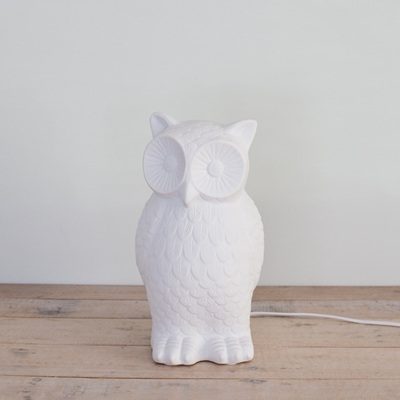 Owl Porcelain Table Lamp