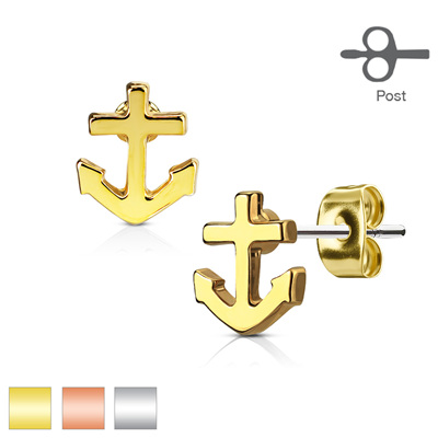 Pair of Anchor Earring Studs