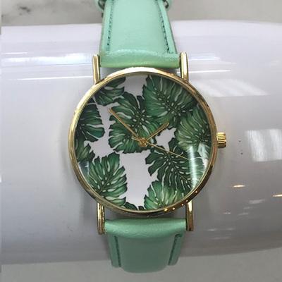 Palm Leaf Watch - Mint Strap