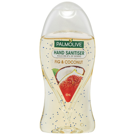 Palmolive Antibacterial Hand Sanitiser Coconut & Fig Non-Sticky Rinse Free On the Go Germ
