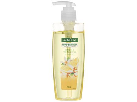 Palmolive Antibacterial Hand Sanitiser Lemon & White Citrus Pump 200mL, Non-Sticky, Rinse Free,