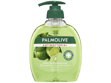 Palmolive Antibacterial Liquid Hand Wash Soap Lime Odour Neutralising Pump 0% Parabens Recyclable