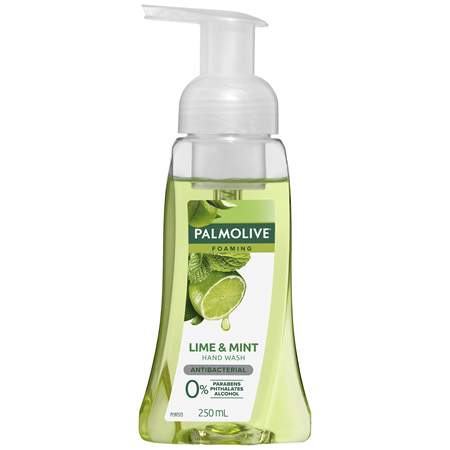 Palmolive Foaming Antibacterial Hand Wash Soap Lime & Mint Pump 0% Parabens Recyclable 250mL