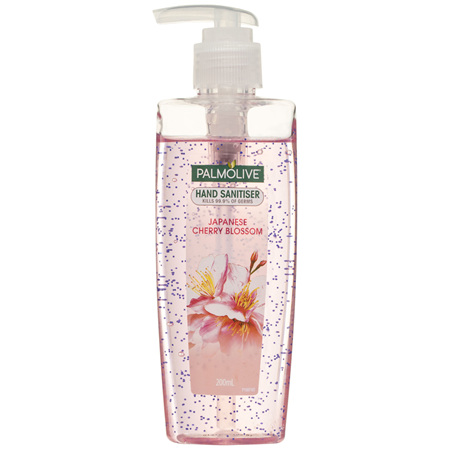 Palmolive Instant Antibacterial Hand Sanitiser Japanese Cherry Blossom Pump 200mL, Non-Sticky,