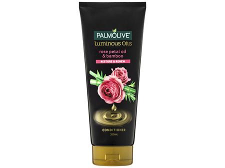 Palmolive Luminous Oils Hair Conditioner Rose Petal Oil & Bamboo Restore & Renew 350mL