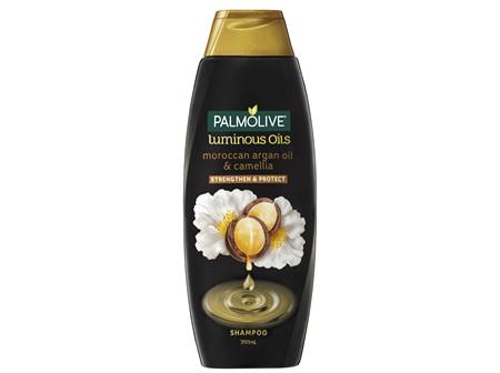 Palmolive Luminous Oils Hair Shampoo Moroccan Argan Oil & Camellia Strengthen & Protect 350mL