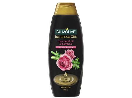 Palmolive Luminous Oils Hair Shampoo Rose Petal Oil & Bamboo Restore & Renew 350mL