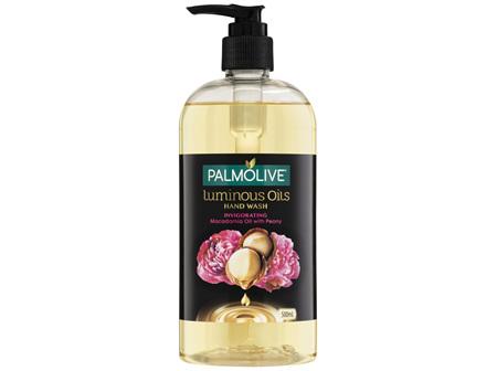 Palmolive Luminous Oils Liquid Hand Wash Soap Invigorating Macadamia Oil with Peony Pump Recyclable